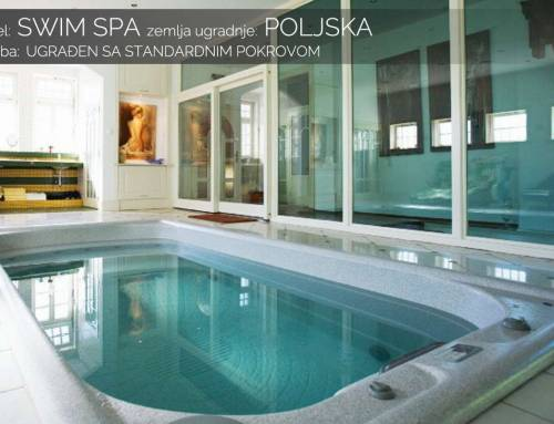 Swim spa ugrađen standardni pokrov – Poljska
