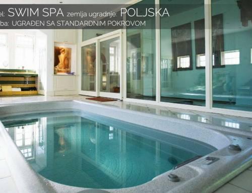 Swim spa ugrađen standardni pokrov – Poljska