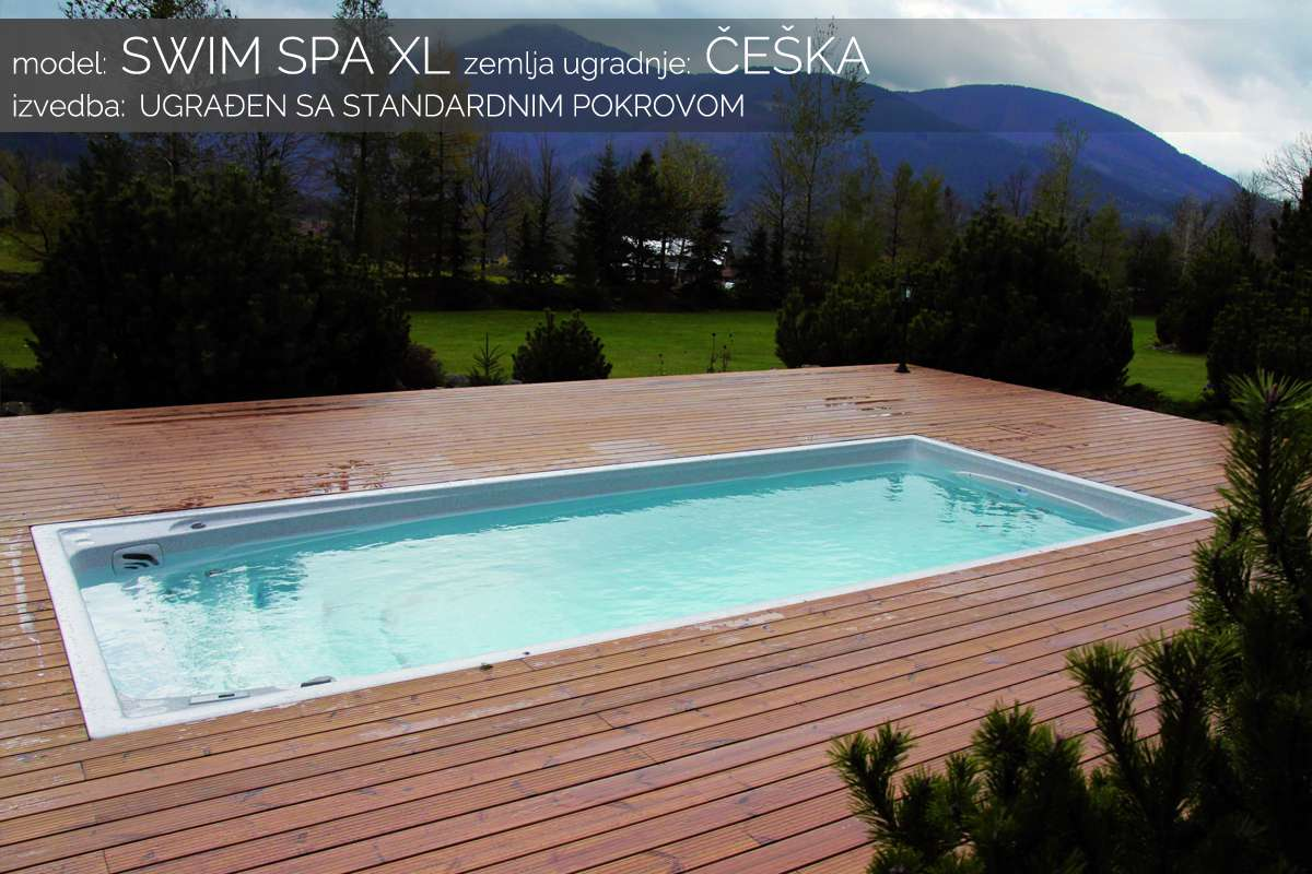 Swim spa XL - standardni pokrov - Češka