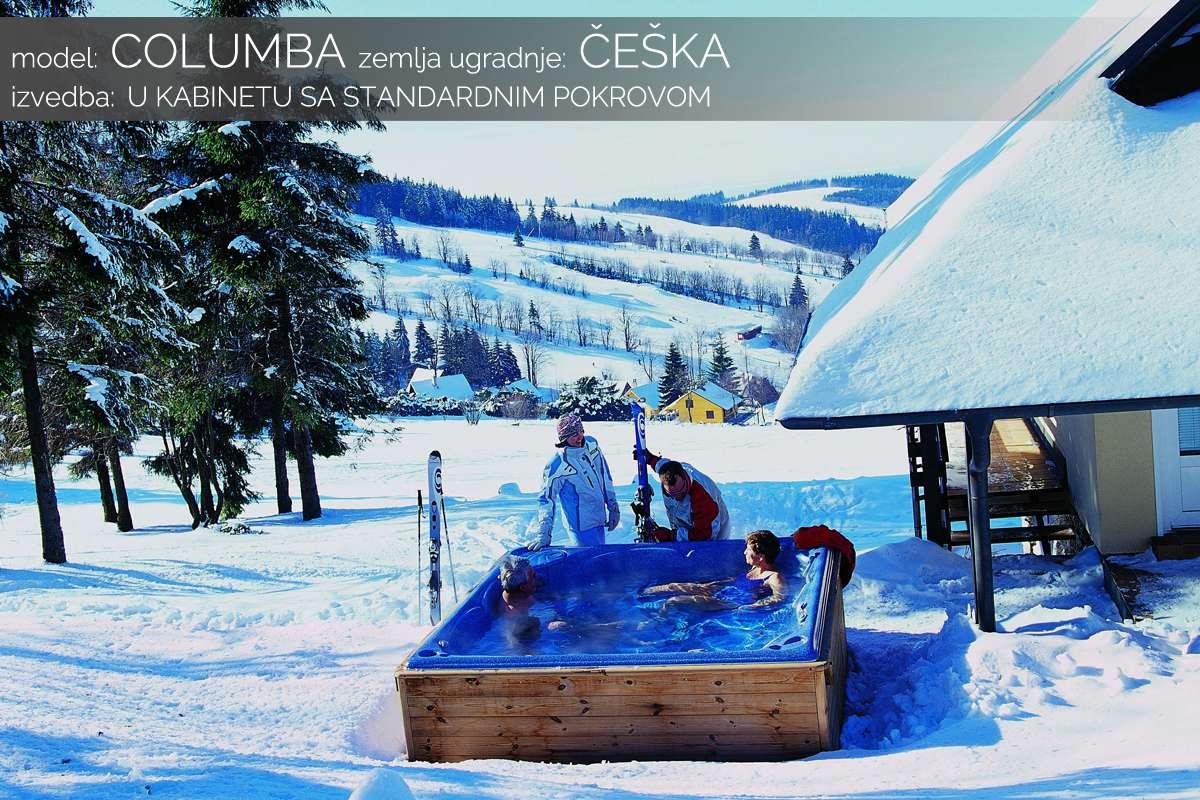 Hidromasažni bazen Columba - zima - Češka