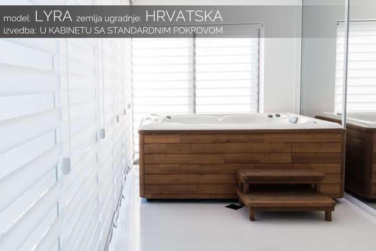 Hidromasažni bazen Lyra u kabinetu - Hrvatska