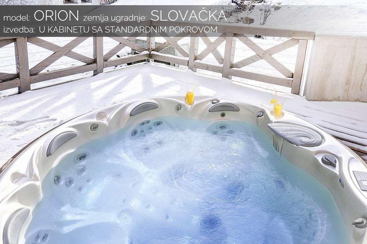 Hidromasažni bazen Orion u kabinetu - Slovačka